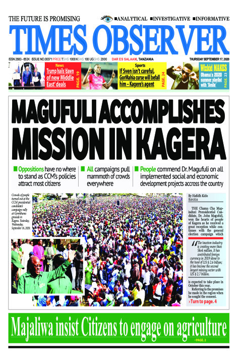 MAGUFULI ACCOMPLISHES MISSION IN KAGERA | Times Observer