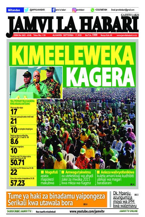 KIMEELEWEKA KAGERA | Jamvi La Habari
