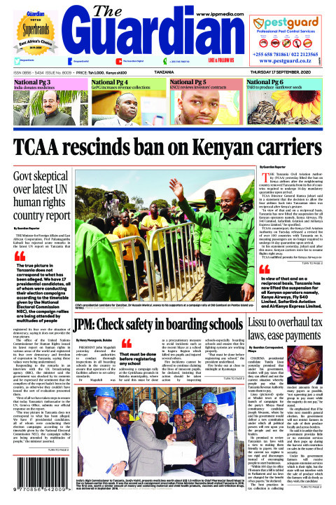 TCAA rescinds ban on Kenyan carriers | The Guardian