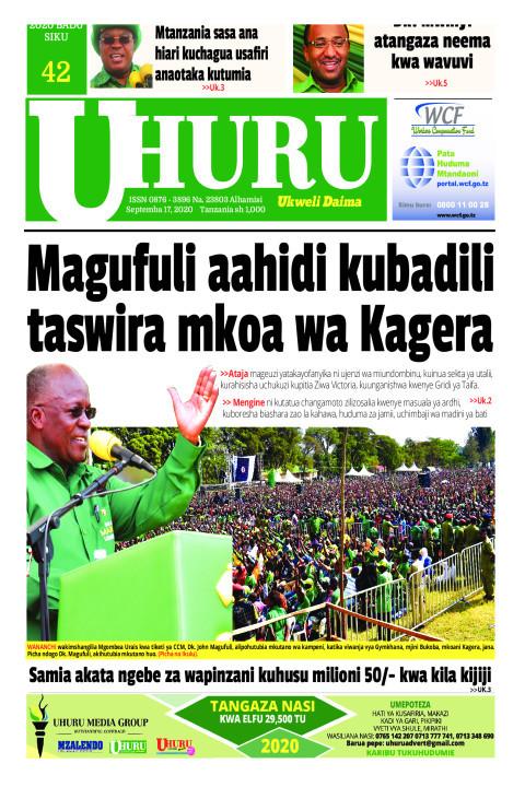 JPM aahadi kubadili taswira mkoa wa Kagera | Uhuru