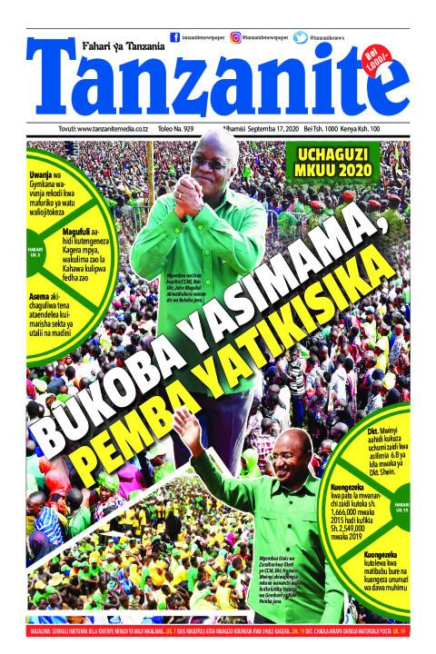 BUKOBA YASIMAMA PEMBA YATIKISIKA   Tanzanite