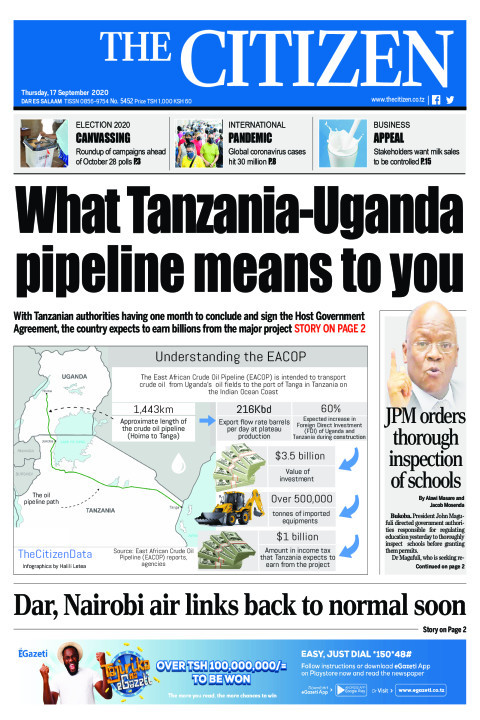 WHAT TANZANIA -UGANDA PIPELINE MEANS TO YOU