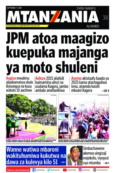 JPM atoa maagizo kuepuka majanga ya moto shuleni   Mtanzania