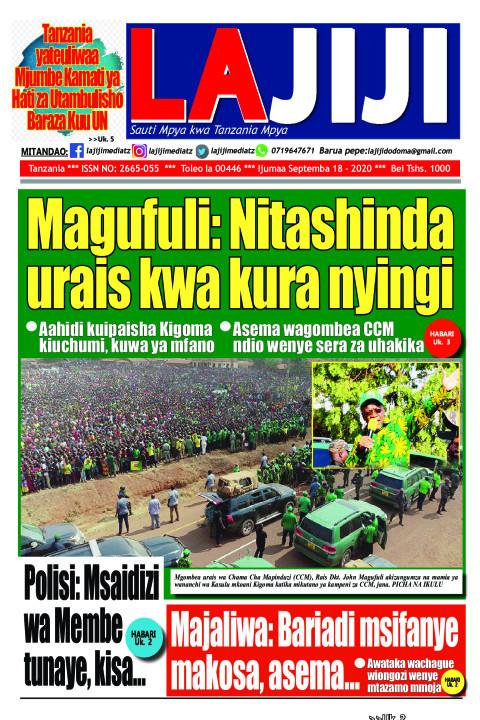 Magufuli: Nitashinda urais kwa kura nyingi   LaJiji