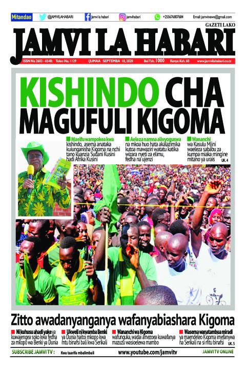 KISHINDO CHA MAGUFULI KIGOMA | Jamvi La Habari