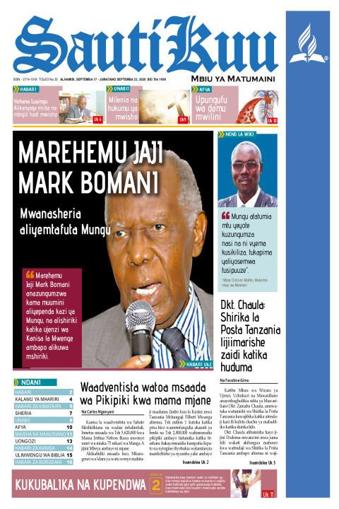 MAREHEMU JAJI MARK BOMANI, MWANASHERIA ALIYEMTAFUTA MUNGU | Sauti Kuu Newspaper