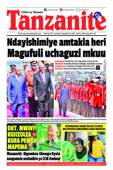 Ndayishimiye amtakia heri Magufuli uchaguzi mkuu   Tanzanite
