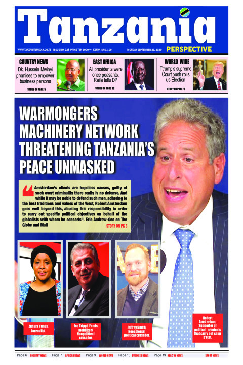 Warmongers machinery network threatening Tanzania's peace un | Tanzania Perspective