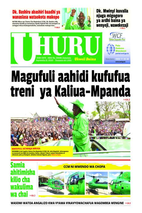 Magufuli aahidi kukufua treni ya Kaliuwa~Mpanda | Uhuru