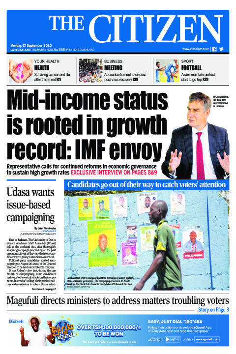 MID-INCOME STATUS IS ROOTED IN GROWTH RECORD:IMF ENVOY   | The Citizen