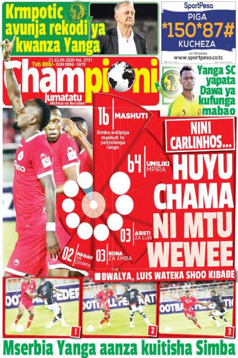 HUYU CHAMA NI MTU WEWEE | Champion Jumatatu