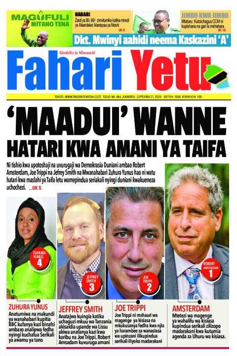 'MAADUI' WANNE HATARI KWA AMANI YA TAIFA | Fahari Yetu