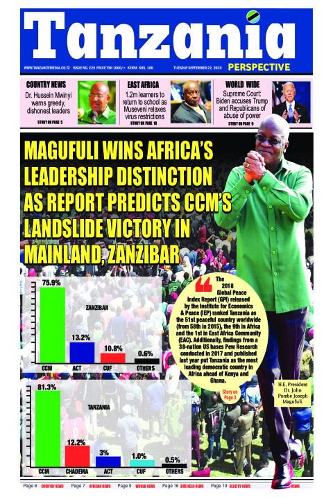 Magufuli wins Africa's leadership distinction as report pred | Tanzania Perspective