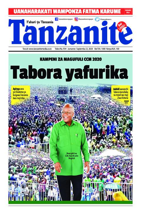 KAMPENI ZA MAGUFULI CCM 2020 Tabora yafurika | Tanzanite