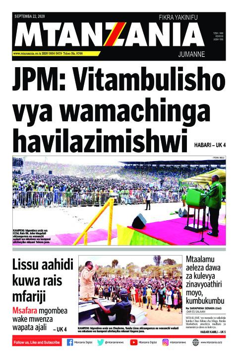 JPM: Vitambulisho vya wamachinga havilazimishwi   Mtanzania