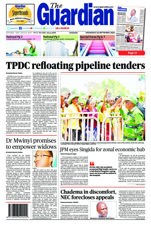 TPDC refloating pipeline tenders | The Guardian