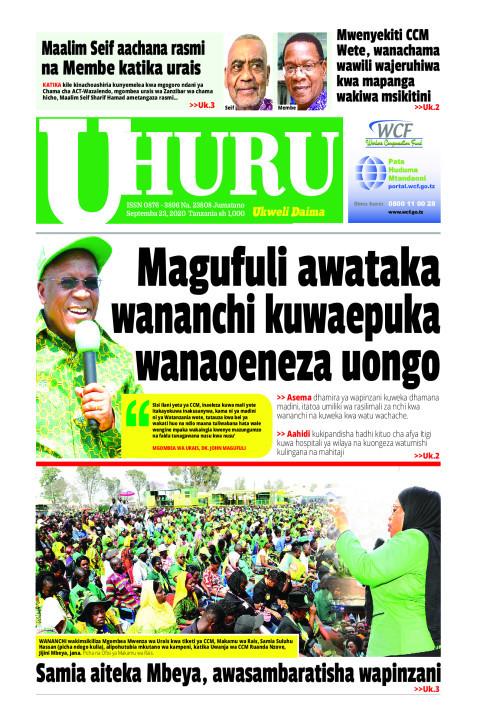 Magufuli awataka wananchi kuwaepuka wanaoeneza uongo | Uhuru