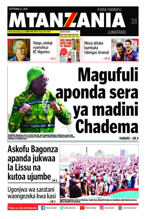 Magufuli aponda sera ya madini Chadema   Mtanzania