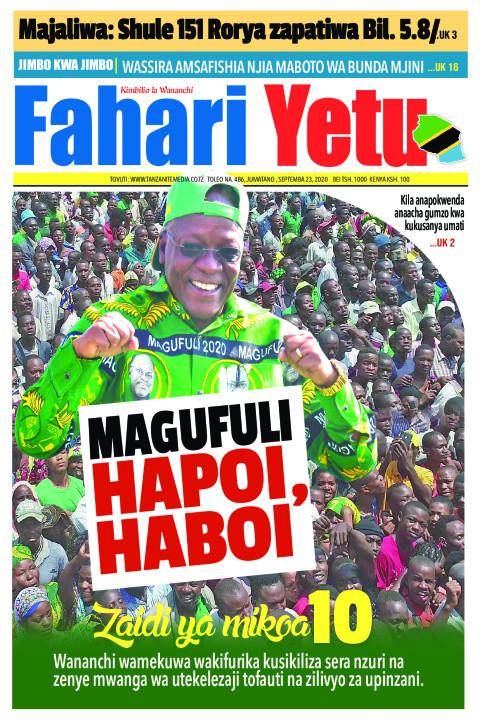 MAGUFULI HAPOI, HABOI | Fahari Yetu