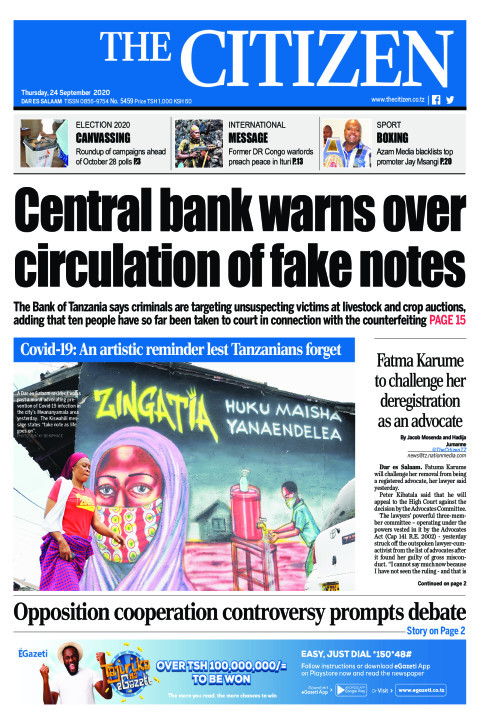 CENTRAL BANK WARNS OVER CIRCULATION OF FAKE NOTES  | The Citizen