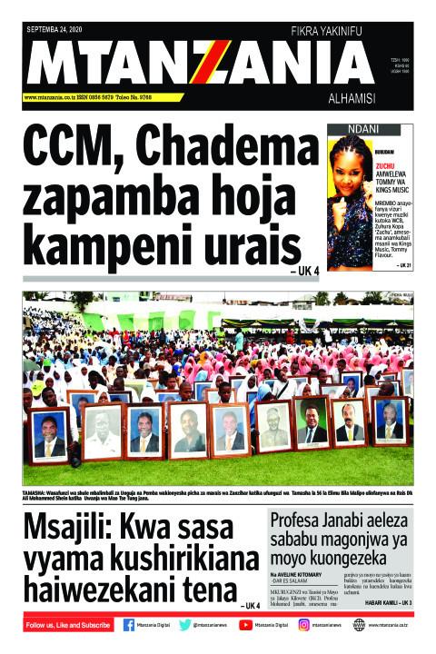 CCM, Chadema zapamba hoja kampeni urais   Mtanzania
