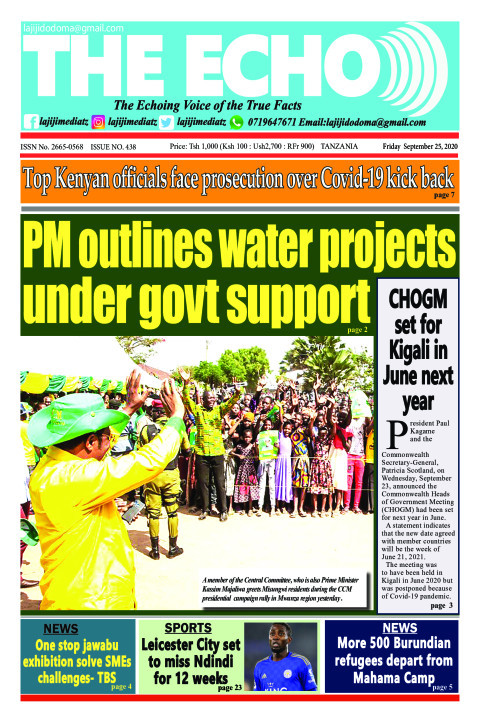 PM outlines water projects