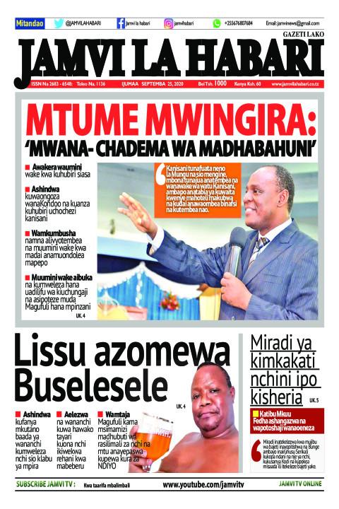 Mtume Mwingira: 'Mwana- Chadema wa madhabahuni'  | Jamvi La Habari