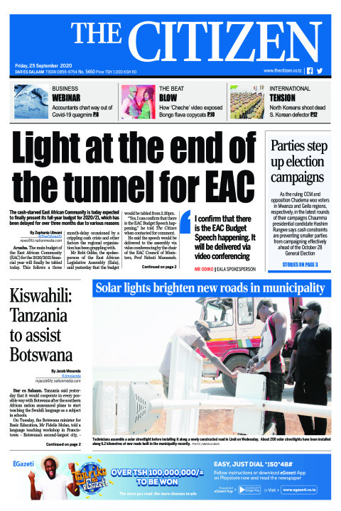 LIGHT AT THE END OF THE TUNNEL FOR EAC   | The Citizen