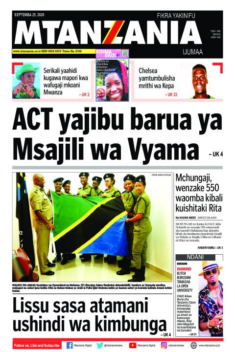 ACT yajibu barua ya Msajili wa Vyama   Mtanzania