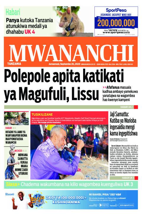 POLE POLE APITA KATIKATI YA MAGUFULI,LISSU  | Mwananchi