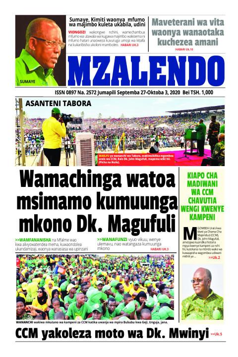 Wamachinga watoa msimamo kumuunga mkono Dk. Magufuli | Mzalendo