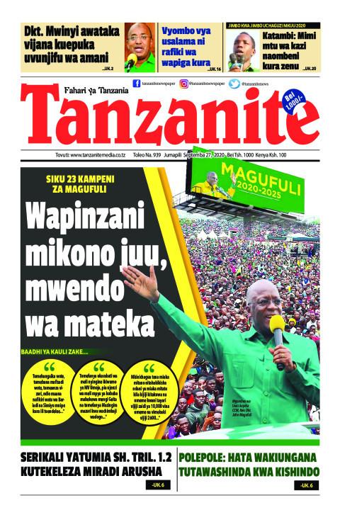 Wapinzani mikono juu, mwendo wa mateka | Tanzanite