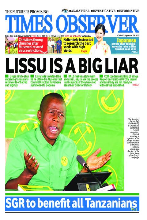 LISSU IS A BIG LIAR | Times Observer