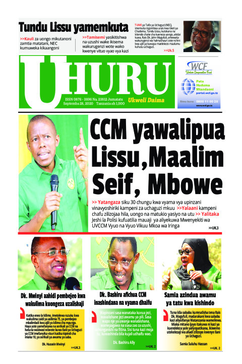 CCM YA WALIPUA LISU, MAALIMU SEIF, MBOWE   Uhuru