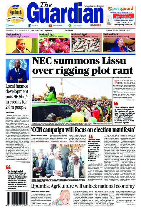 NEC summons Lissu over rigging plot rant | The Guardian