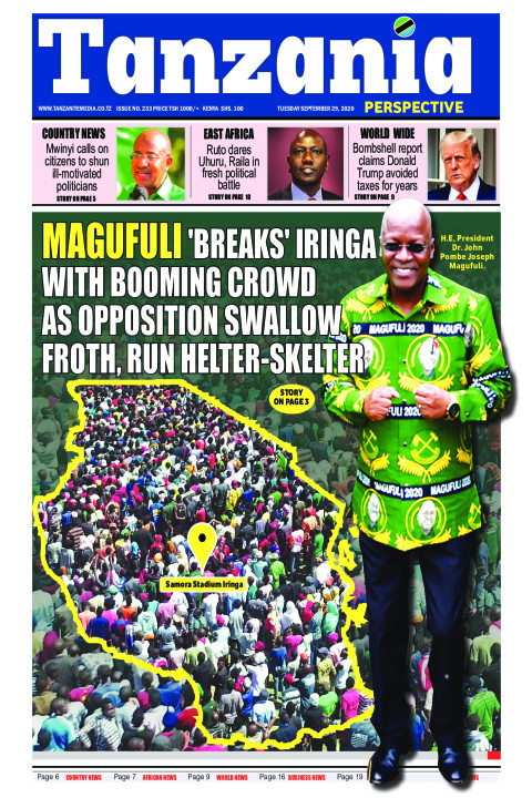 Magufuli 'breaks' Iringa with booming crowd as opposition th | Tanzania Perspective