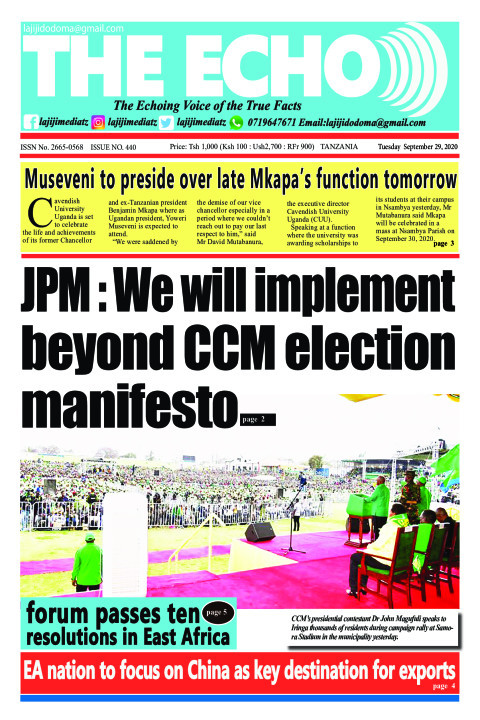 JPM : We will implement beyond CCM election manifesto | The ECHO