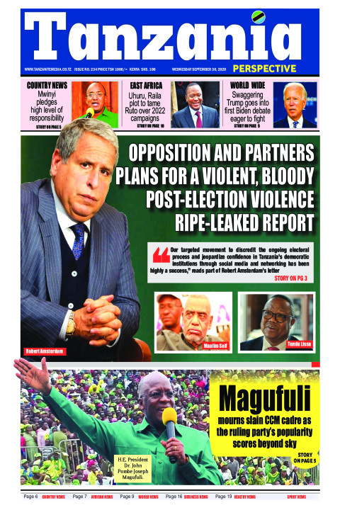 Opposition and partners plans for a violent, bloody post-ele | Tanzania Perspective