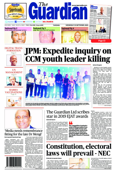 JPM: Expedite inquiry on CCM youth leader killing | The Guardian