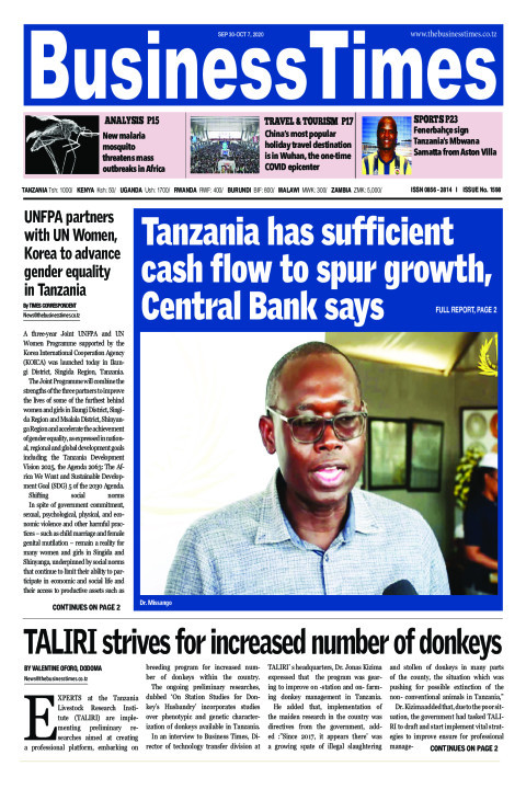 Tanzania has sufficient cash flow to spur growth, Central  | Business Times