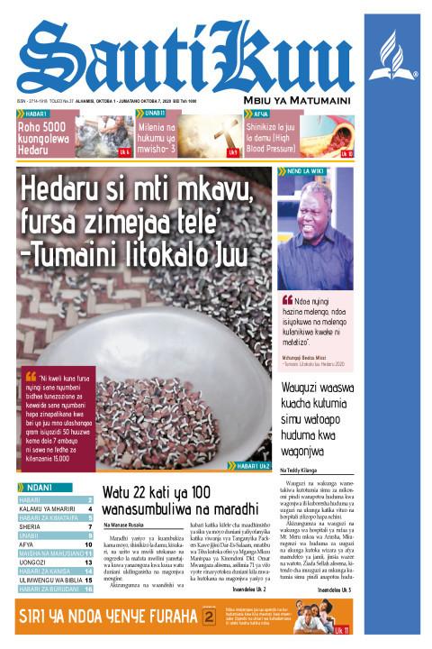 Hedaru si mti mkavu, Fursa zimejaa tele! | Sauti Kuu Newspaper