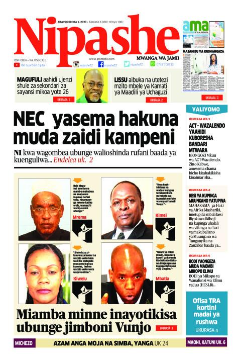 NEC yasema hakuna muda zaidi kampeni | Nipashe