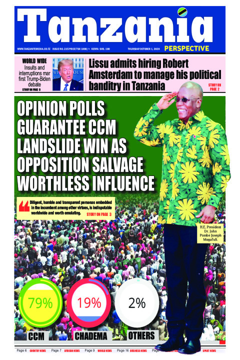Opinion polls guarantee CCM landslide win as opposition salv | Tanzania Perspective