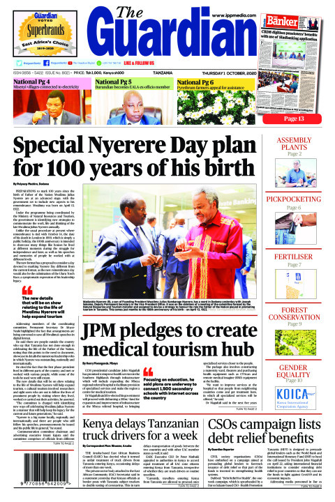 Special Nyerere Day plan for 100 years of his birth | The Guardian