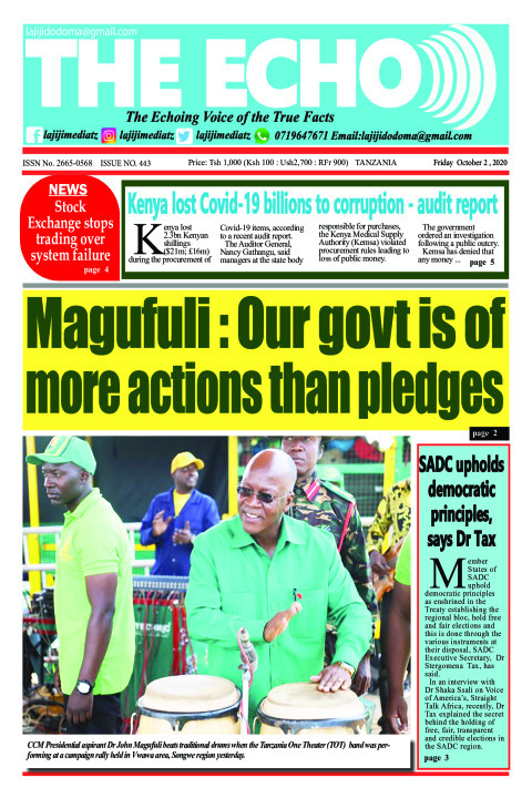 Magufuli : Our govt is of more actions than pledges | The ECHO