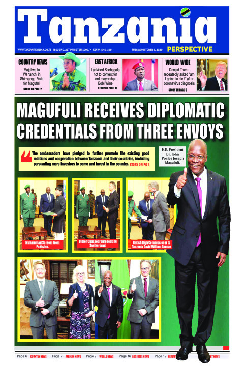 Magufuli receives diplomatic credentials from three Envoys | Tanzania Perspective