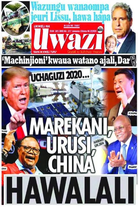 MAREKANI, URUSI, CHINA HAWALALI | Uwazi