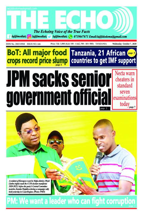 JPM sacks senior government official | The ECHO