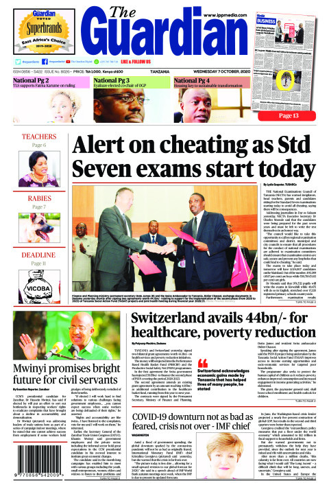 Alert on cheating as Std Seven exams start today | The Guardian