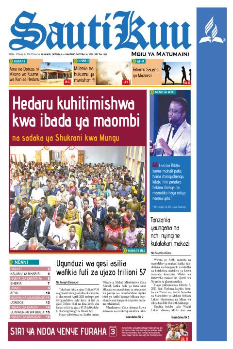 Hedaru kuhitimishwa kwa Ibada ya Maombi na Sadaka ya Shukran | Sauti Kuu Newspaper